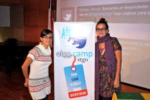 Susana Cipriota and Lucila Campos at ElggCamp STGO 11
