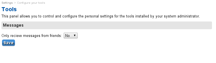 User plugin settings