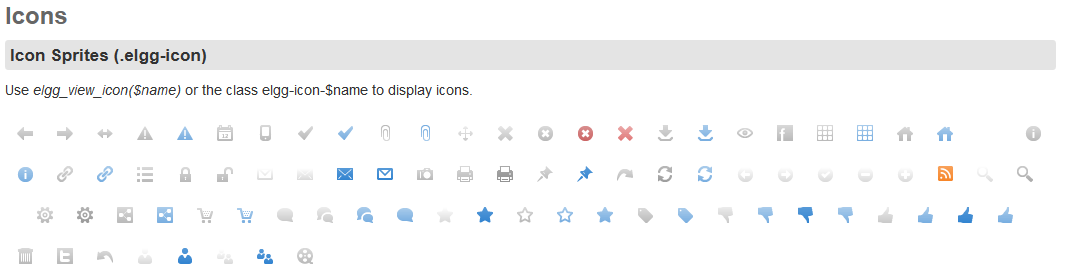 Default Elgg icons