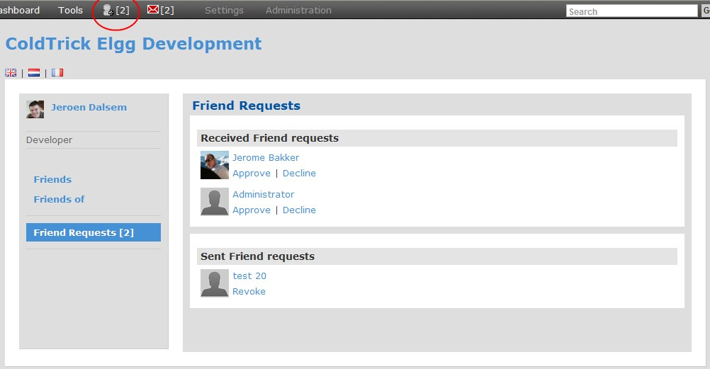 Manage friend requests