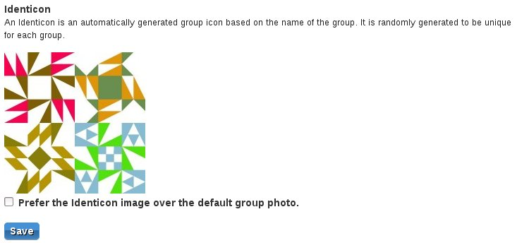 Group Identicon example