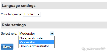 Set role for user