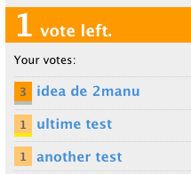 List of user votes on the sidebar
