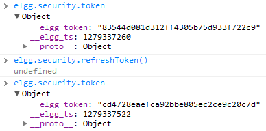Access to security tokens via javascript -- automatic token renewal so your pages don't expire