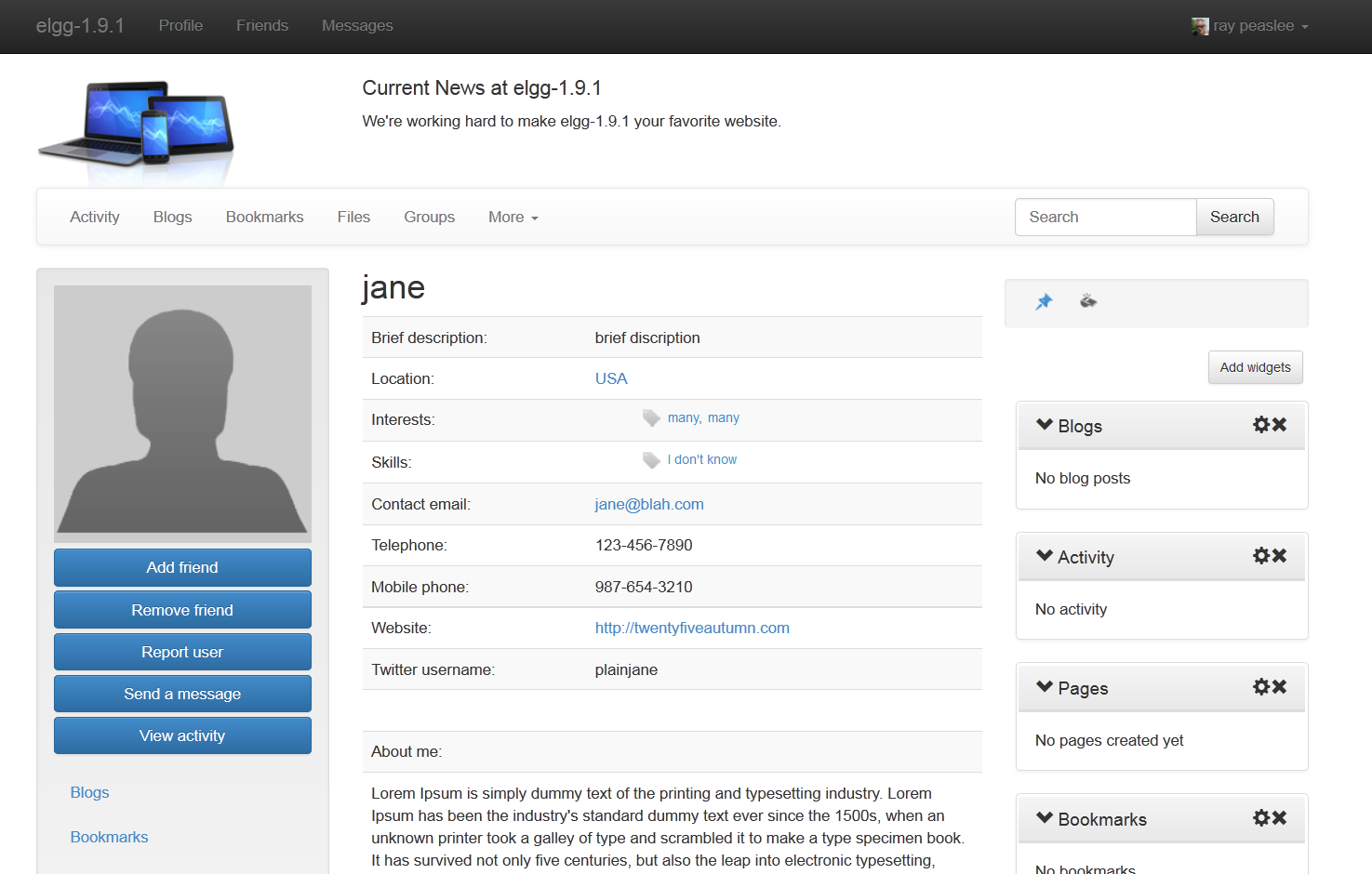 Twitter bootstrap dating template